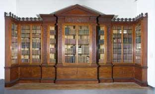1763 Bookcase With Glazed Front Doors