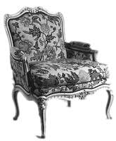 French Rococo Style Armchair