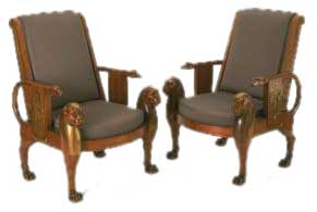 Empire Egyptian Style Chairs